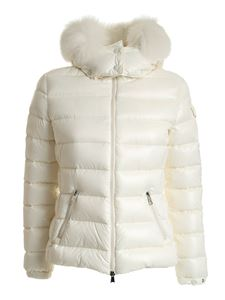 Moncler - Badyfur quilted down jacket in white