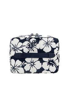 Tory Burch - Beauty case floreale combinabile blu e bianco