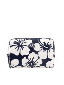 Tory Burch - Beauty case Perry blu e bianco
