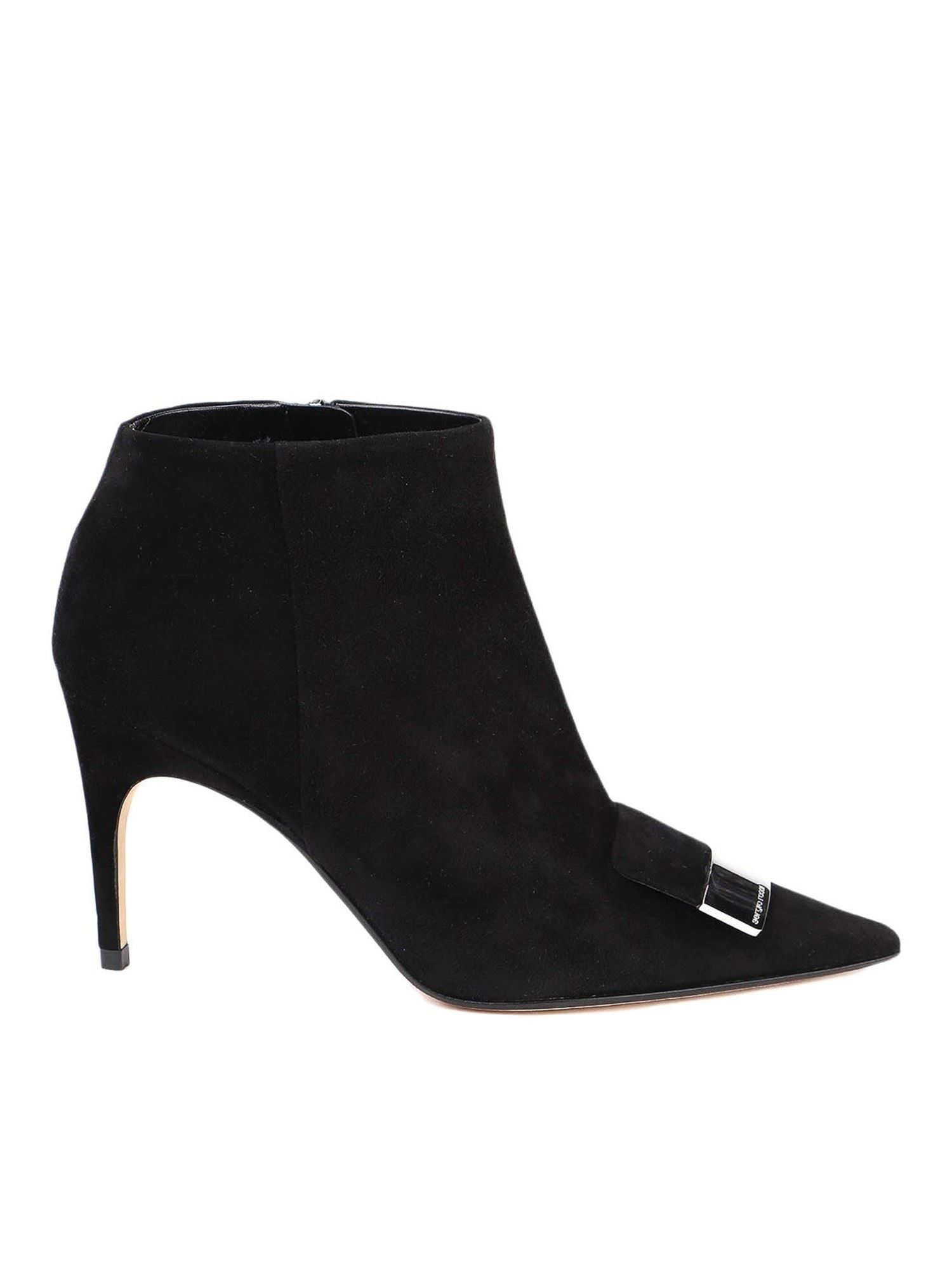 Sergio Rossi SUEDE ANKLE BOOTS IN BLACK