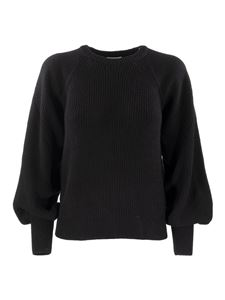 Red Valentino - Puffed sleeves wool blend sweater in black