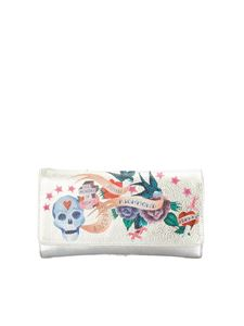 John Richmond - Guns & Roses clutch in silver color