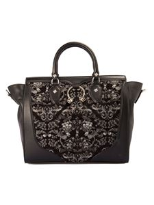 John Richmond - Velvet insert bag in black
