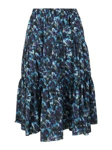 Kenzo - Artwork print midi skirt in blue