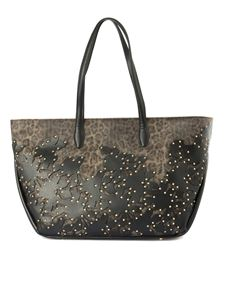 Class Roberto Cavalli - Obsession Bloom shopping bag in black