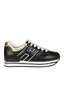 Hogan - H222 sneakers in black and gold