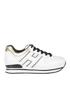 Hogan - H222 sneakers in white and gold