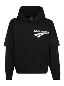 Dsquared2 - Cotton hoodie in black