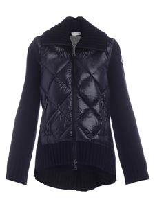 Moncler - Black cardigan featuring padded detail