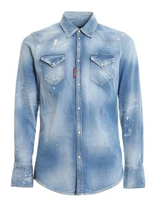 Dsquared2 - Faded denim shirt in blue