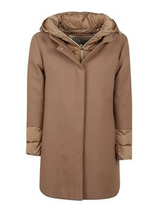 Herno - Quilted cuff cotton blend down coat