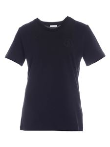 Moncler - Maxi logo patch T-shirt in black