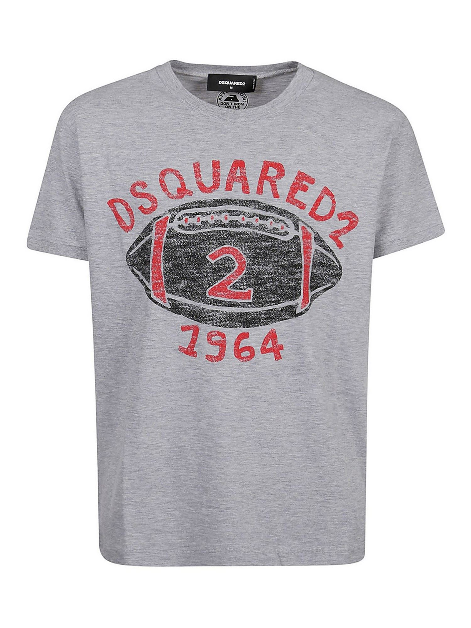 Dsquared2 Logo Printed T-shirt In Grey
