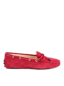 Tod's - Suede driver loafers in red