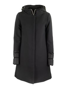 Herno - Quilted cuff cotton and wool blend down coat