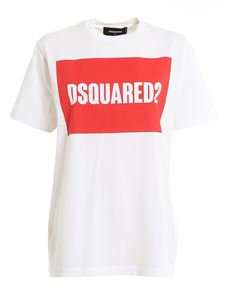 Dsquared2 - T-shirt in jersey bianca con stampa logo
