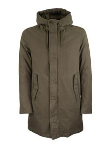 Herno - Padded cotton parka in military green