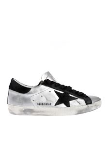 Golden Goose - Superstar sneakers in silver with suede heel tab