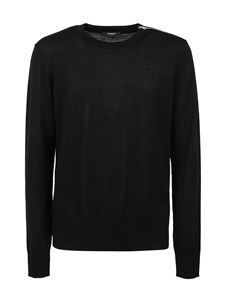 Balmain - Merino wool pullover in black