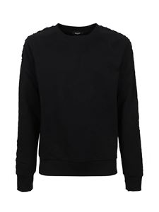 Balmain - Cotton crewneck sweater in black