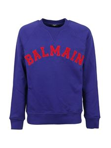Balmain - College-style sweatshirt in blue