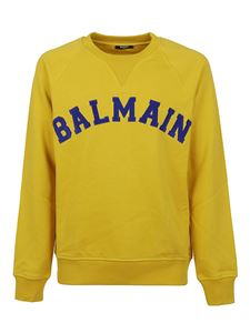 Balmain - College-style sweatshirt in yellow