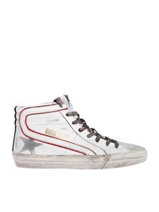 Golden Goose - Slide sneakers in white with camouflage laces