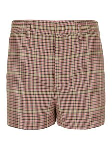 Red Valentino - Houndstooth shorts in camel color