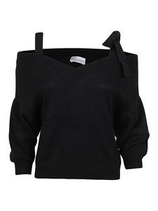 Red Valentino - Black pullover featuring grosgrain straps
