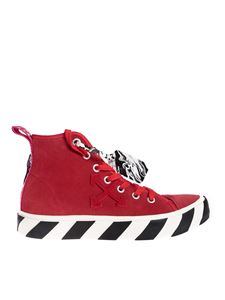 Off-White - Mid top sneakers in red
