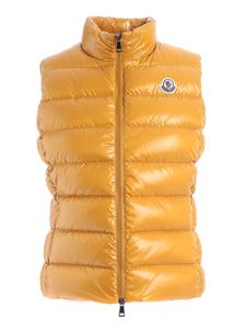 Moncler - Ghany waistcoat in mustard color