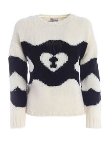 Red Valentino - Chains and Padlocks pattern pullover