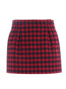 Red Valentino - Vichy pattern pants-skirt in red and black