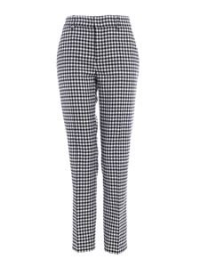 Red Valentino - Vichy pattern pants in black and white