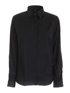 Fay - Logo embroidery shirt in black