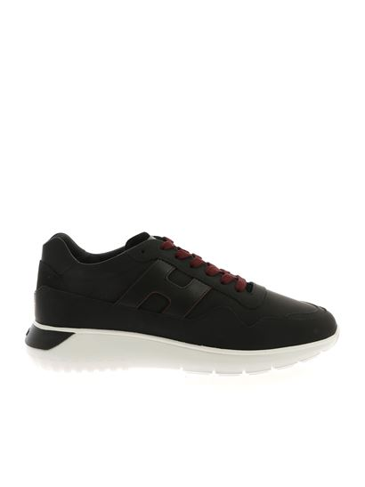 Interactive 3 sneakers in black and burgundy