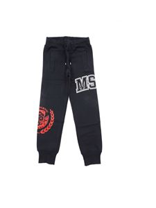 MSGM - Logo prints pants in white