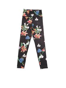 Monnalisa - Floral print leggings in black