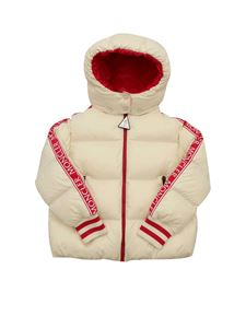 Moncler Jr - Down Azzurra jacket in white and fuchsia