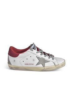 Golden Goose - Sneakers Superstar Classic bianche e rosse