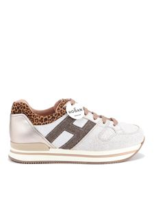 Hogan - H222 crackle effect leather sneakers