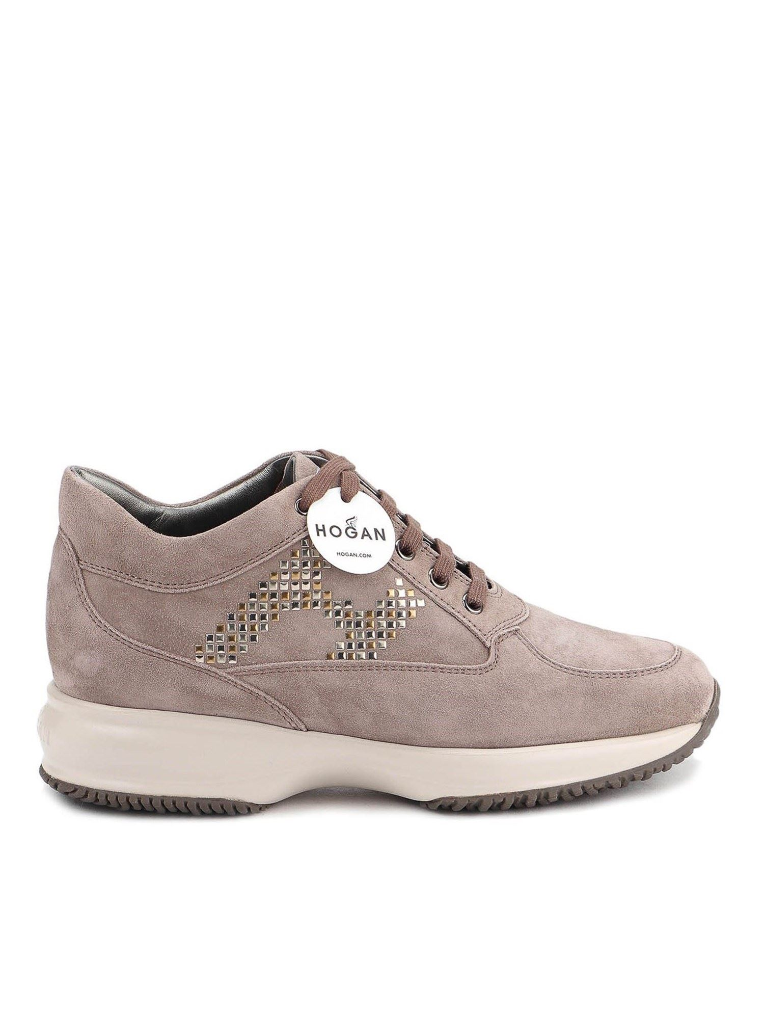 Hogan INTERACTIVE STUDDED SUEDE SNEAKERS