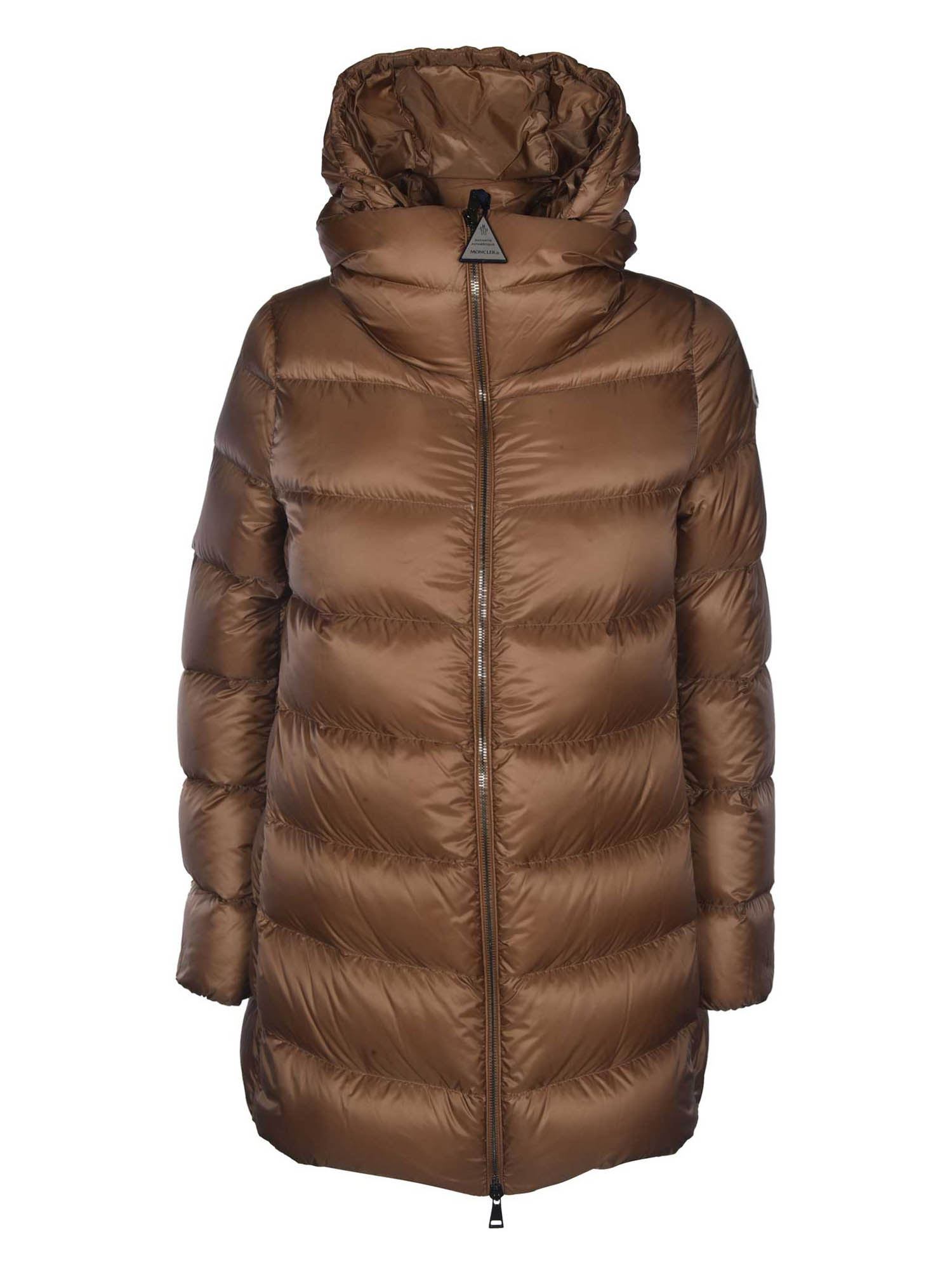 Moncler ANGE DOWN JACKET IN BROWN