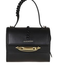 Alexander McQueen - The Story smooth leather bag in black