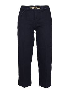 Pinko - Peggy 3 cropped jeans in dark blue