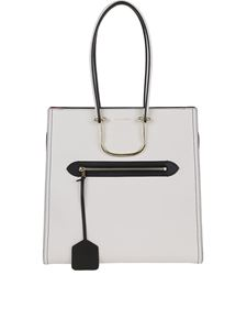 Alexander McQueen - The Tall Story bag in white