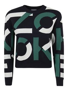 Kenzo - All-over logo cotton blend pullover in black