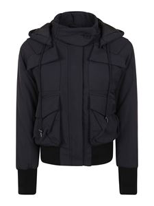 Kenzo - Nylon bomber jacket in black featuring hood
