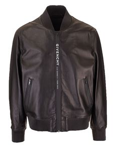 Givenchy - Bomber in black with Adresse GIVENCHY band