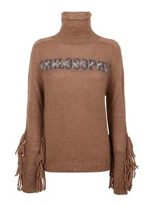 Philosophy di Lorenzo Serafini - Fringes on the cuffs sweater in brown
